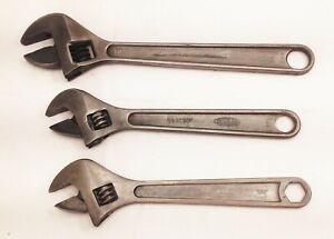 "Vtg adjustable wrench tool lot proto dunlap best quality 12"" 10"""