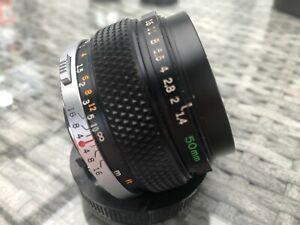 Lens MC Olympus OM  1.4/50mm For Olympus OM