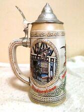 Anheuser-Busch L Series Stein Steel Lid Collectible Rare Beer Mug Budweiser King