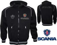 Scania V8 Capuche Polaire Veste Fleece Jacket Blouson Chaqueta Giacca LKW Cadeau