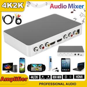 4K 2K Karaoke Sound Mixer KTV Audio Amplifier Mic for Stage Television Speaker