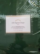 "2 Pottery Barn Silk Dupioni Pole Pocket BLACKOUT Drapes ~ 50x84"" ~ EMERALD GREEN"