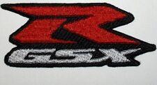 Toppa ricamata patch termoadesiva logo SUZUKI GSX - R cm. 10 x 4