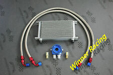 50mm 19 Row AN-10/AN engine transmission oil cooler hose+ filter relocation kits