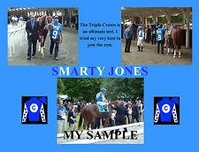 SMARTY JONES Horse Race TRIPLE CROWN Near Miss Belmont Stakes Collage 8x10 Photo