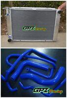 For Holden V8 Commodore VG VL VN VP VR VS 5.0L SS Aluminum Radiator & Blue HOSE