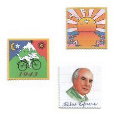 3x Stück Pappemagnet Blotter Art LSD Vintage Magnet Set 5x5cm
