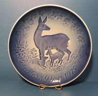 1975 Bing & Grondahl MOTHERS DAY PLATE Doe And Fawns