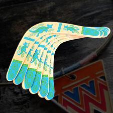 V Shaped Throwback Boomerang Wooden Flying Disk Catch Returning Kids Toy Uk