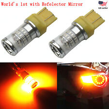 JDM ASTAR 2x48-SMD 7443 7440 Super Amber 3014 Turn Signal Blinker LED Light Bulb