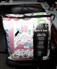 Veratex Stylish Peace and Love Twin Bed in Bag Set
