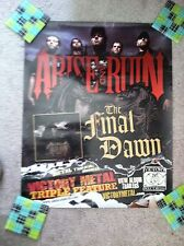ARISE AND RUIN The Final Dawn 2007 Album Promotional POSTER VINTAGE RARE Metal