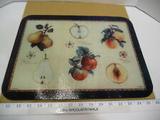 "Pimpernel Fruit Themed Glass Countertop Saver Cutting Board 16"" x 12"" - EUC"