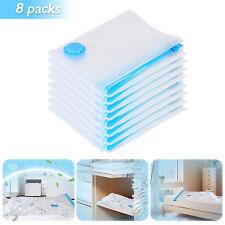8pcs Large Vacuum Storage Bag Space Clothes Quilts Organizer Set Travel Plastic*
