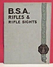 B.S.A. Rifles and Rifle Sights Catalog - Circa 1915 - 48 pages - Original