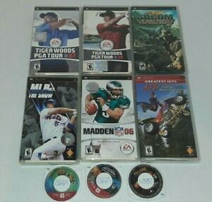 Lot of 9 Sony PSP Video Games Ratchet And Clank Star Wars Tiger Woods & More UMD