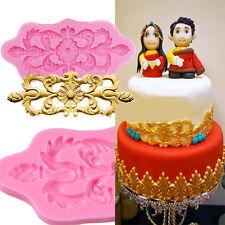 Baroque Vintage Flower Lace Silicone Fondant Mould Cake Decor Sugar Icing Mold