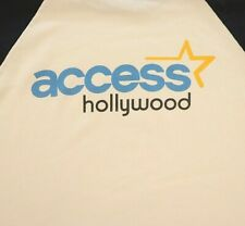 Access Hollywood Baseball T-shirt 2XL Large White Anvil 100% Cotton Celebrity TV
