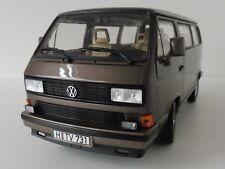 VW T3 Bus Multivan 1990 1/18 Norev 188543 Volkswagen Bronce Metálico