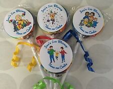 Caillou Swirl/Twirl Lollipop Party Favor Personalized 12 Ct
