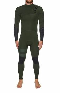 HURLEY Men's 3/3 ADVANTAGE MAX Zip Free Wetsuit - Green - Size Large - LAST ONE