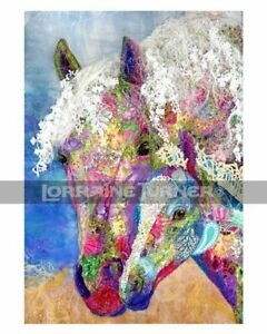 Wild Horse and Foal Art Giclée by Lorraine Turner