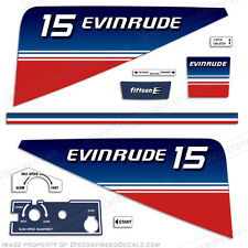 Evinrude 15hp Outboard Decal Kit - 1980