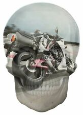 Gothic Skull Double Exposure Yamaha Motorbike Racing View Wall Sticker 624