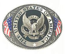 United States of America Eagle American Flag Belt Buckle