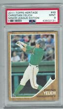 CHRISTIAN YELICH 2011 TOPPS HERITAGE MINOR LEAGUE ROOKIE MINT PSA 9