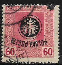 Poland stamps 1918 MI 24 INVERTED Ovpt  signed  CANC  VF