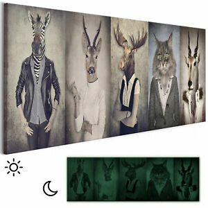 KINDERZIMMER HUND KATZE HAUS Wandbilder xxl Bilder Vlies Leinwand 0104-3