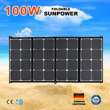 100W 12V Folding Solar Panel Bag Generator Sunpower Charge With Regulator