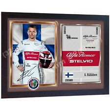 Kimi Raikkonen Formula 1 signed autographed photo print Framed .