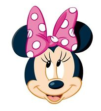 "Minnie Mouse Head Iron On Transfer 5.75 ""x 4.75"" for LIGHT Colored Fabric"