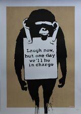 Banksy - Laugh now - screen print (serigraph) original brown color version