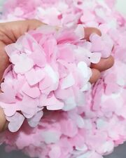 PINK and WHITE Confetti HEART for Wedding and party Biodegradable 9gr
