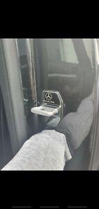 Mercedes Door Lock Cover Chrome Black Blue Latch Buckle Emblem Badge Cap