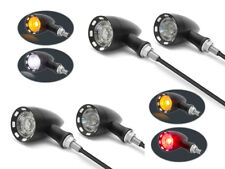 Motorbike LED Indicators & DRL + Integrated Stop Taillight Retro Custom SET OF 4