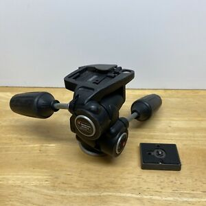 Manfrotto 804RC2 3-Way Pan/Tilt Camera Tripod Head Quick Release w/ 1 Plate