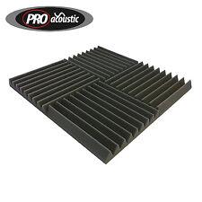 """8x AFW305 Pro Acoustic Foam Tiles 12"""" 305mm Sound Treatment Professional Studio"""