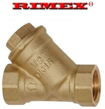 3/4 Inch BSP Brass In-Line Y Strainer / Filter