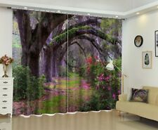 Forest Ancient Trees Scenery Window Curtains 3D Printing Blockout Drapes Fabric