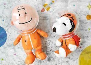 Peanuts Snoopy Charlie Brown Astronaut Plush set SS Nakajima Corporation NEW