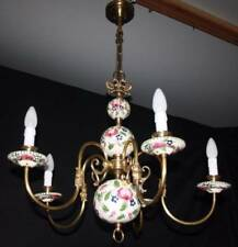 Ceramic chandelier ebay vintage flemish delft chandelier colourful ceramic ceiling light ap25a mozeypictures