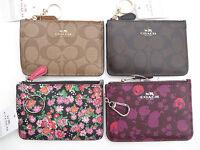 COACH Wristlet Wallet Key Pouch Signature PVC Floral Leather 63923 64962 NEW NWT