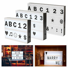 A3/A4/A5 Cinematic Led Light Up Box Frame With Letters Display Sign Decor Gifts