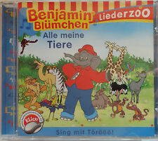 Benjamin Blümchen CD Liederzoo Alle meine Tiere Sing mit 12 Lieder ab 3 Jahren