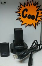 2x Battery Pack + Charging Dock Station for Xbox 360 Wireless Controller Black