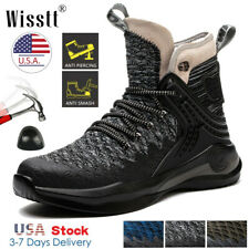 Mens Steel Toe Work Boots Safety Shoes SWAT Army Sports Leather Military Sneaker